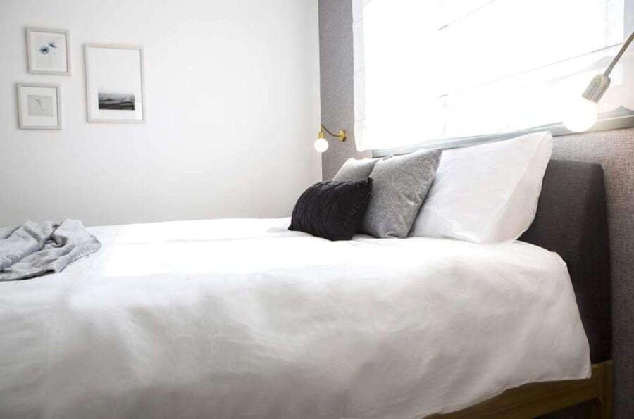 מיטה מעוצבת בסגנון נורדי