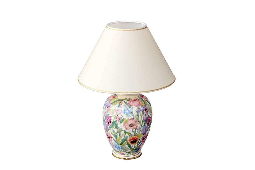 מנורה פרחונית מקרמיקה