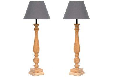 מנורת אווירה מעץ