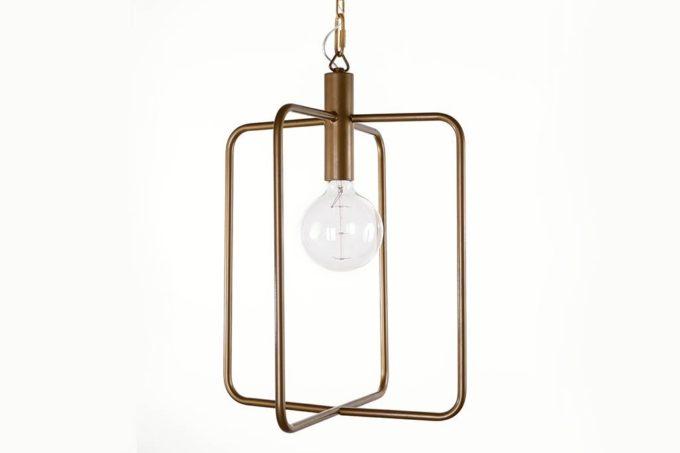 מנורת תליה מלבנית