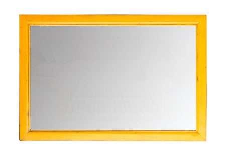 מראה בצבע צהוב לתליה