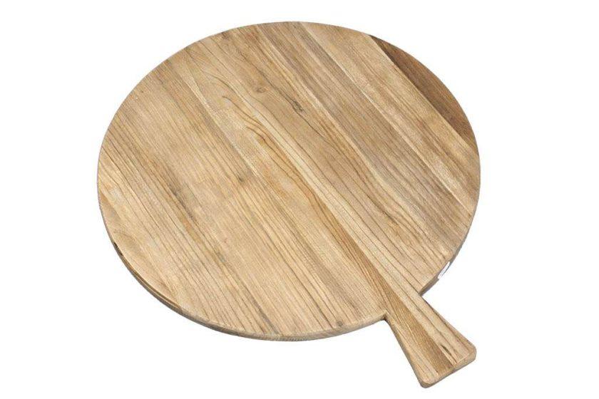 משטח הגשה עגול מעץ