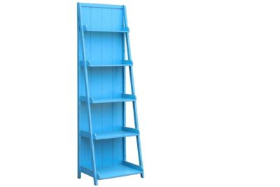 סולם מדפים כחול