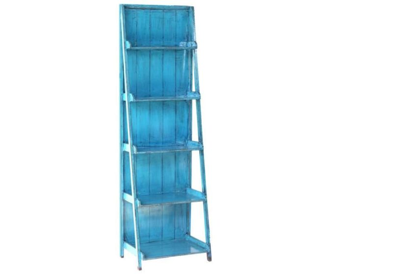 סולם מדפים בצבע כחול