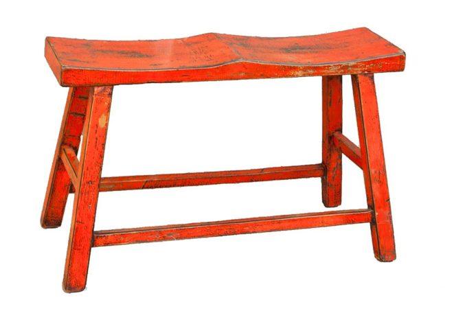 ספסל עץ כתום