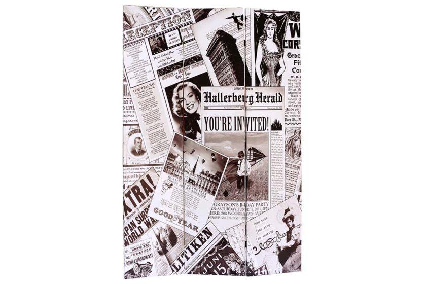 פרגוד מעץ וקנבס עיתונים