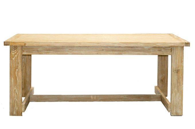 שולחן אוכל אלון עם הגדלות