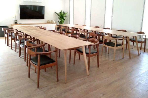 שולחן אוכל מינימליסטי