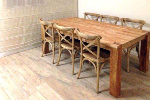 שולחן אוכל נפתח מעץ אלון