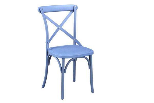 כסא גינה כפרי כחול