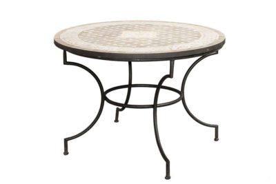 שולחן גינה עגול פסיפס