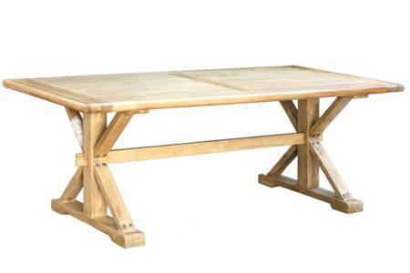 שולחן אוכל כפרי מעץ גושני