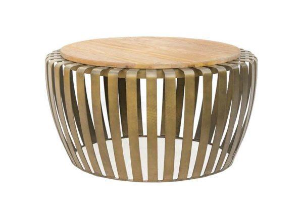שולחן מתכת עגול לסלון