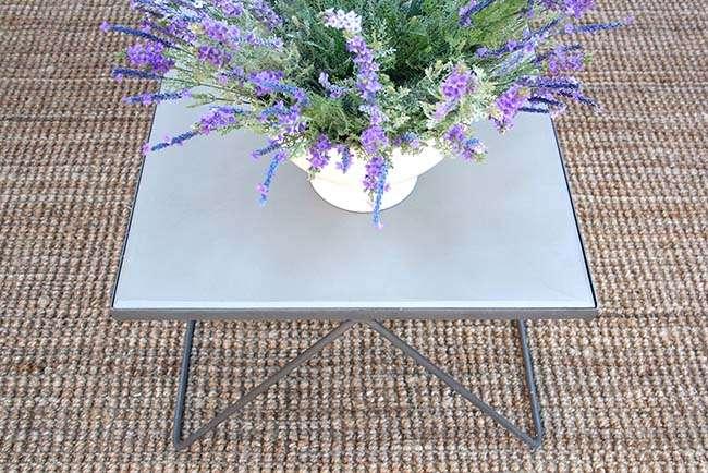 שולחן סלון בטון וברזל מתכת