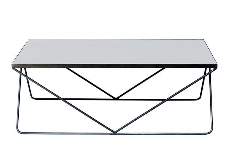 שולחן סלון בטון וברזל