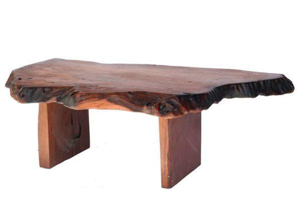 שולחן סלון מגזע טבעי