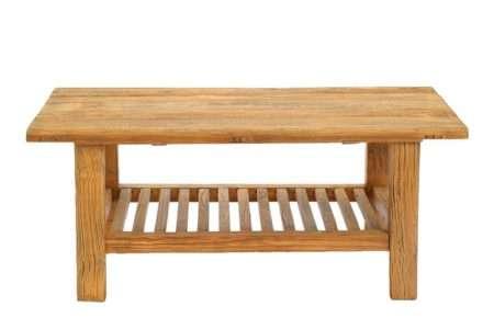 שולחן סלון מעץ גושני מלא
