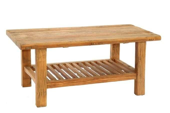 שולחן סלון מעץ גושני