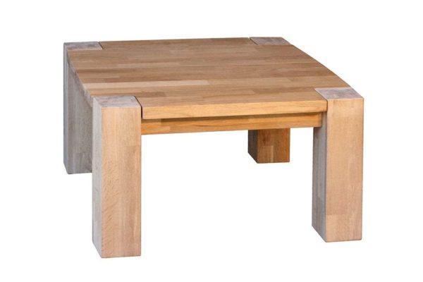 שולחן סלון מרובע מעץ אלון