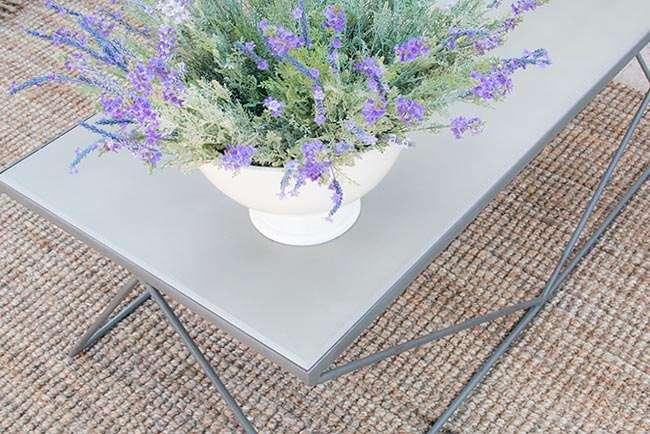 שולחן סלון מתכת דמוי בטון