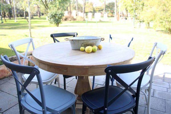 שולחן עגול נפתח אבירים עץ מלא