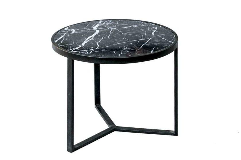 שולחן עגול שחור
