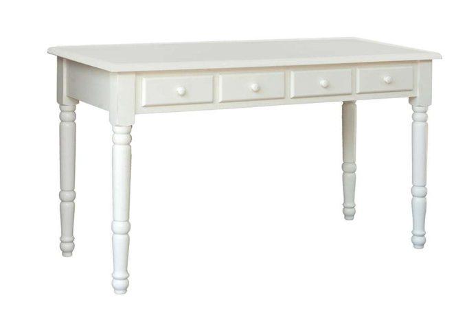 שולחן כתיבה בצבע שמנת