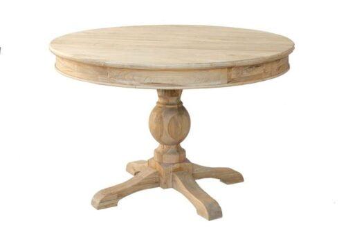 שולחן עץ עגול נפתח