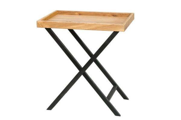 שולחן מתקפל מגש עץ מלא