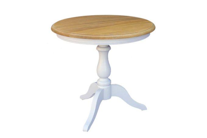 שולחן עגול אפור