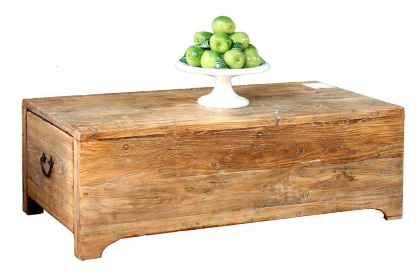 שולחן תיבה טבעי מגירות