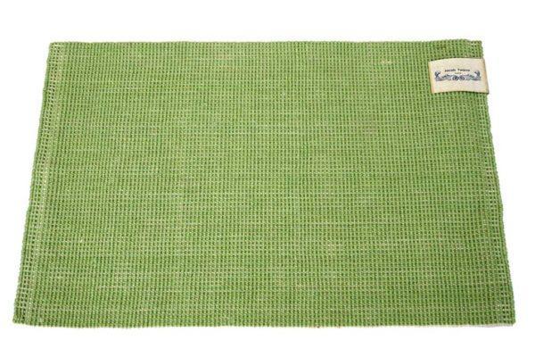 שטיח בצבע ירוק למטבח