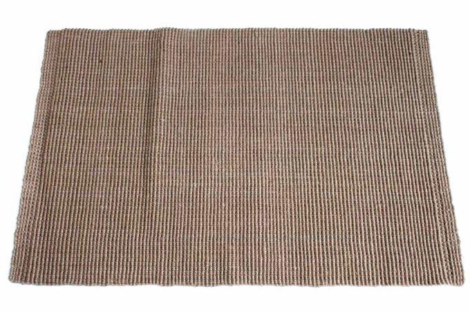 שטיח חום טבעי חבלים