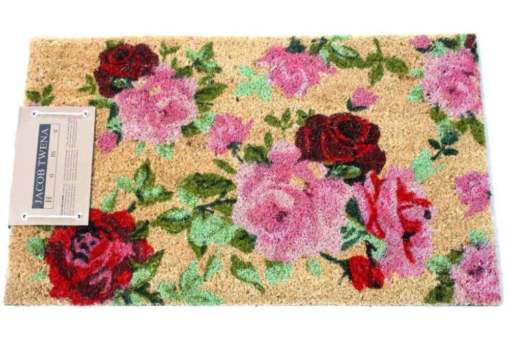 שטיח כניסה פרחוני
