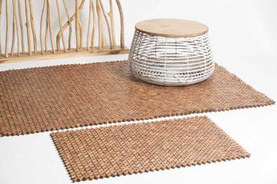 שטיח עץ אלכסונים לבית