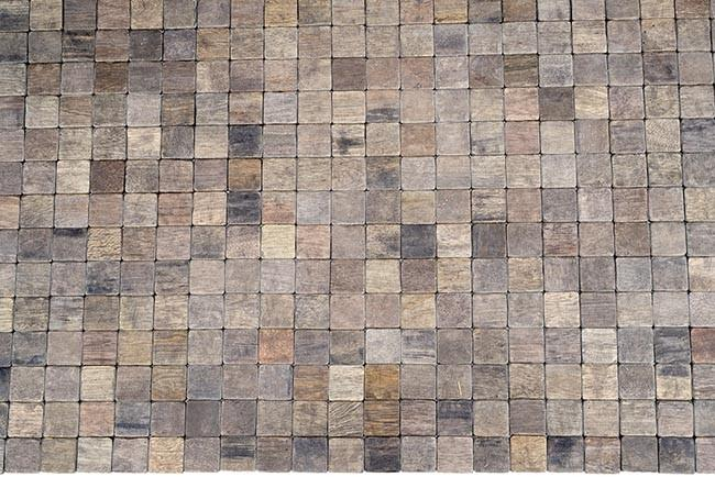 שטיח עץ ריבועים לבית