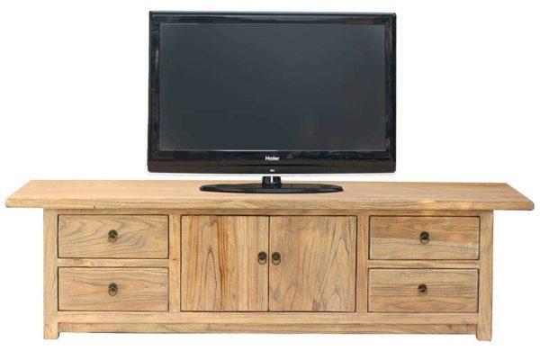 שידת טלוויזיה מעץ טבעי