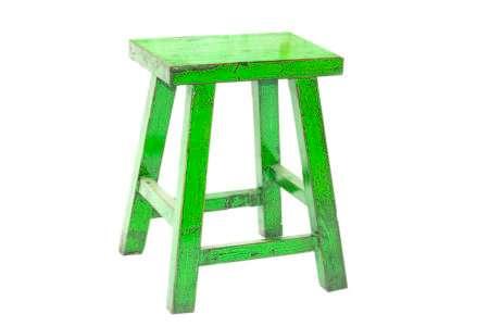 שרפרף בצבע ירוק מעץ מלא