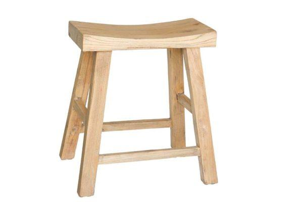 שרפרף עץ טבעי מלא לשולחן