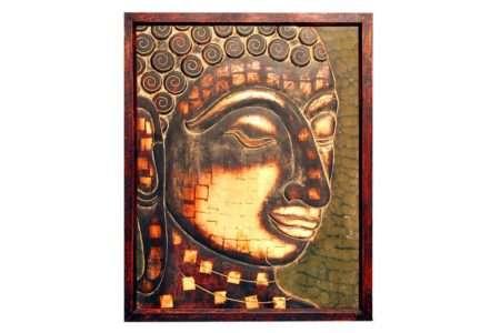 תמונה ראש בודהה מעץ
