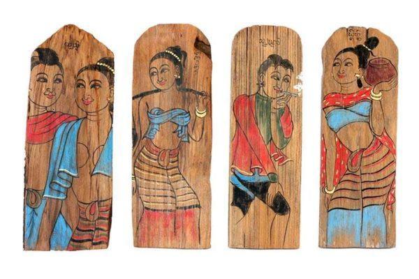 תמונות מצוירות מעץ ישן
