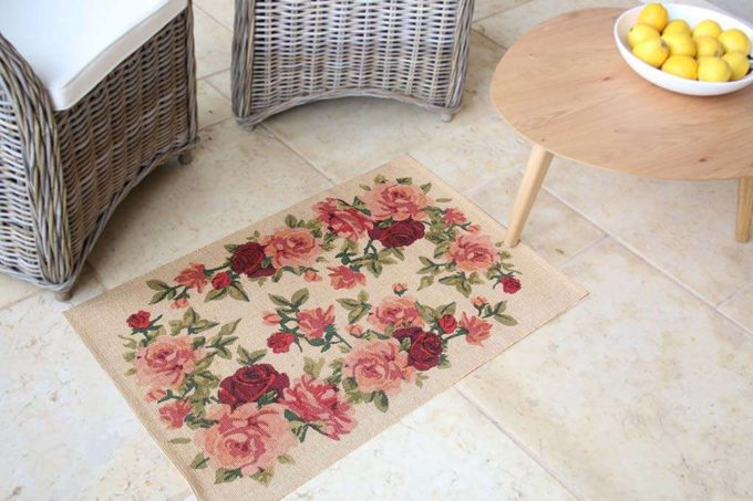 שטיח שושנים טבעי
