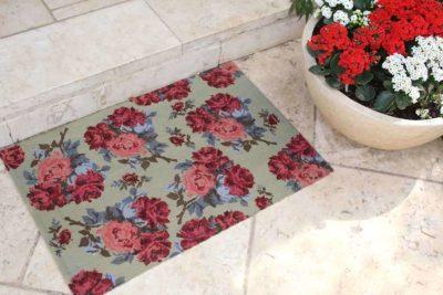 שטיח שושנים טורקיז