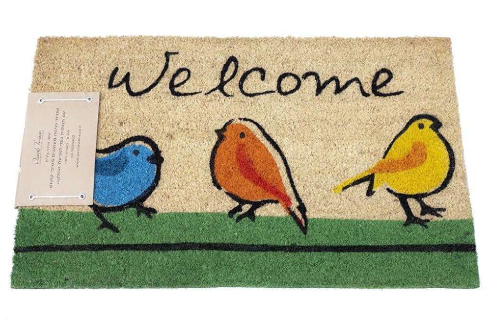שטיח כניסה ציפורים טבעי