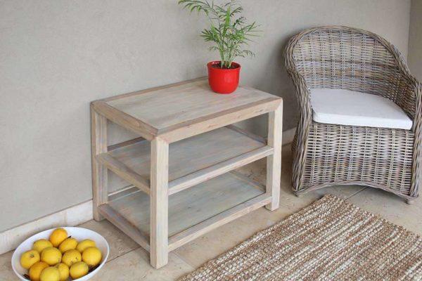 שולחן צד טבעי עץ מלא