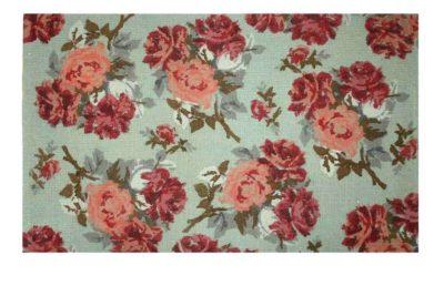 שטיח שושנים טורקיז חבלים