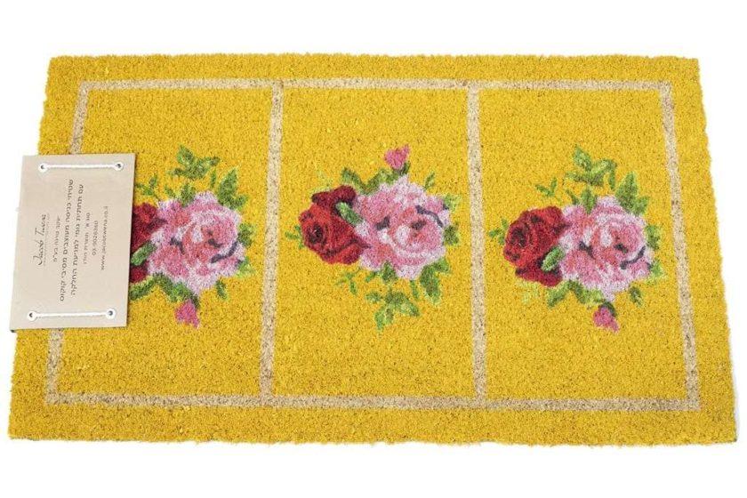 שטיח שושנים צהוב