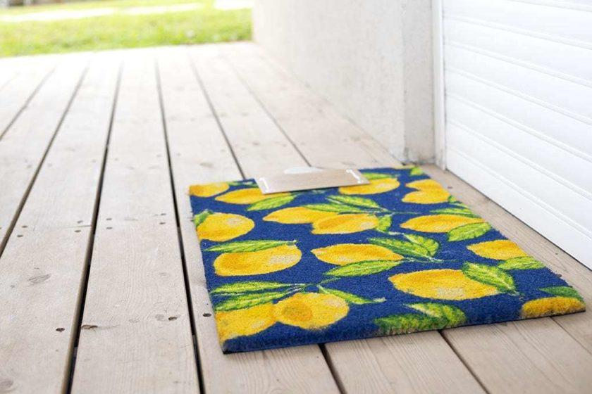 שטיח לימונים לכניסה לבית