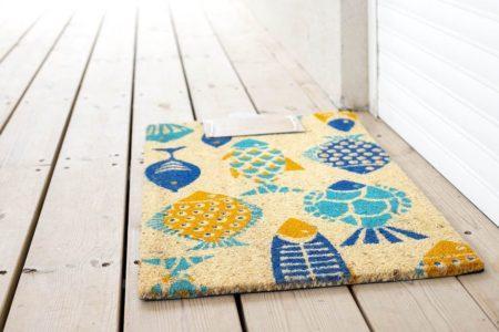 שטיח סף לכניסה דגים