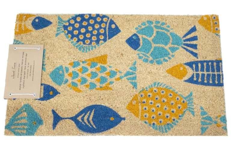 שטיח כניסה דגים